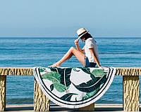 Пляжный коврик Листья