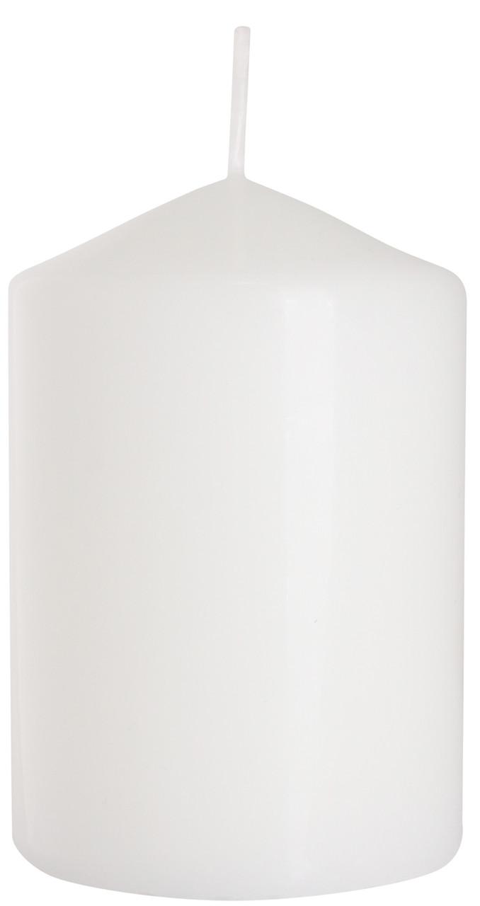 Свеча столовая цилиндр BISPOL белая 70 х 100 мм