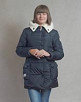 Зимняя куртка Лейла, синяя