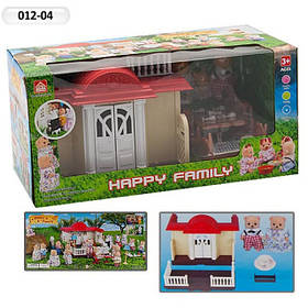 Домик Happy Family 012-04 Животные флоксовые (аналог Sylvanian Families) со светом