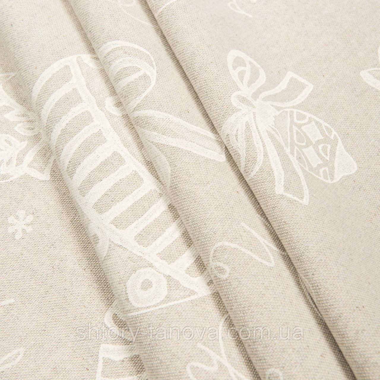 Новогодняя ткань хлопок для скатерти и салфеток, подушек Ткани для штор на метраж
