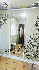 Двери купе (межкомнатные перегородки, гардеробные) на монорельсе ДСП, зеркало, фото 3