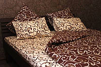 Двуспальный комплект постельного белья из бязи с простыней на резинке Комфорт Текстиль