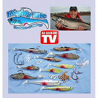 Набор снастей для рыбалки Mighty Bite, приманки рыболовные Майти Байт, рыбацкий набор снастей
