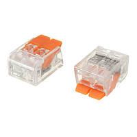 Excellway® Клеммная колодка 100 шт. Коннектор Кабель Зажим 2 Кондуктор Compact Коннекторs