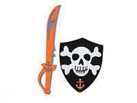 Пиратский костюм фомовый щпага и наглазник