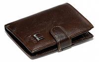 Бумажник кожаный IMPERIAL HORSE. Мужской кошелек натуральная кожа. Вертикальное кожаное портмоне. СКМ23