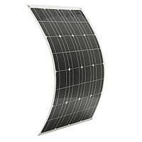 80W 12V Semi-flexible Водонепроницаемы Солнечная Панели с кабелем 1,5 м