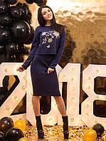 Костюм женский кофта с вышивкой и юбка p.42-48 VM2149-1
