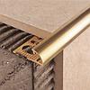 Наружный латунный уголок для плитки 10 мм MOR10 2.5 м