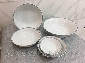 Салатник фарфоровый 25см Opal серый(Thun)
