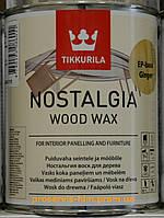 Масло воск для дерева Tikkurila Nostalgia Honey (Мед) 1л