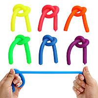 6Pcs TPR красочный Stretchy String Fidget Gadget Relys Relief Уменьшить стресс-гаджет 1TopShop