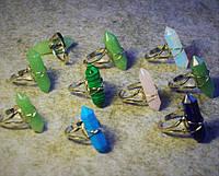 Кольцо с натуральным камнем ( на выбор) Лунный камень, Нефрит, Лазурит, Малахит, Розовый кварц.