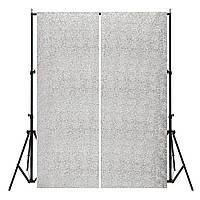 2 панели 2FTX7FT Silver Shimmer Sequins Fabric Свадебное Фотосъемка 1TopShop