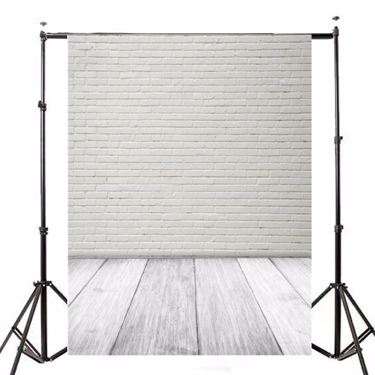 1.5X2.1m Фотография Виниловый фон Белый кирпичный стенд Studio Backdrop-1TopShop