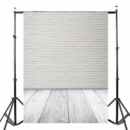 1.5X2.1m Фотография Виниловый фон Белый кирпичный стенд Studio Backdrop-1TopShop, фото 2