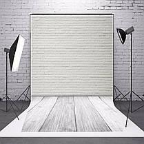 1.5X2.1m Фотография Виниловый фон Белый кирпичный стенд Studio Backdrop-1TopShop, фото 3