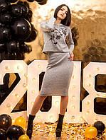 Костюм женский кофта с вышивкой и юбка p.46-48 VM2149-2