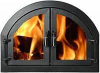 """Дверца для печи и барбекю """" ДВОЙНЫЕ"""", Дверцы печные со стеклом 570х430, фото 1"""