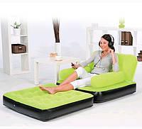 Надувное велюровое кресло трансформер 2 в 1 Best Way 3 цвета