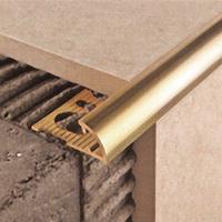 Наружный латунный уголок для плитки НЛП12 2.5 м
