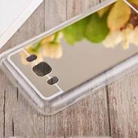 Зеркальный золотой силиконовый чехол для Samsung Galaxy J510 2016, фото 1
