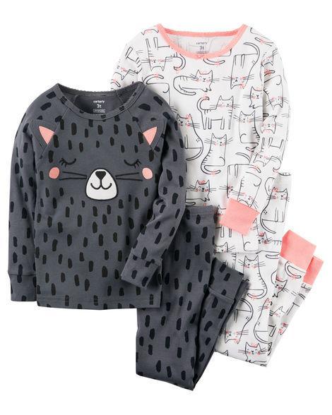 Пижама для девочки Carter's(Картерс) 12М (72-78 см) белая