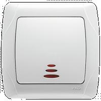 Выключатель VIKO Carmen 1-клав. с подсветкой белый