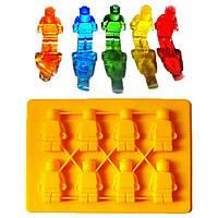 """Силиконовая форма для конфет и льда """"Лего человечки"""""""