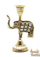 Подсвечник с перламутром бронзовый Слон