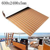 600x2400x5mm Marine Flooring Faux Teak EVA Foam Лодка Палубный лист