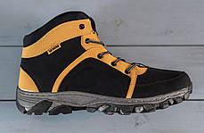 Мужские ботинки на меху черно-рыжие, фото 3