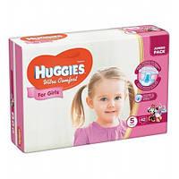 Подгузники Huggies Ultra Comfort для девочек 5 (12-22 кг) 42 шт.