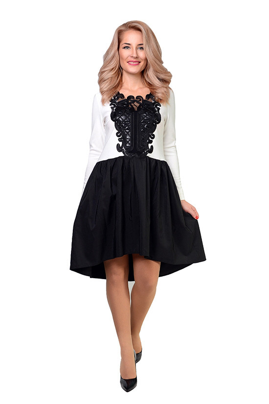 Нарядное женское платье с завышенной талией 44-50