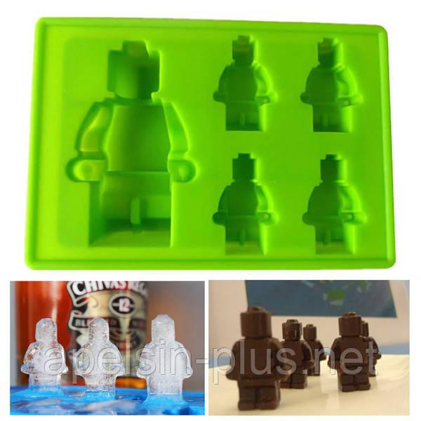 """Силиконовая форма """"Лего человечки и Робот"""""""