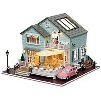 CuteRoom A-035-A Queens Town DIY Миниатюрная модель Dollhouse с легким музыкальным коллекционным подарком