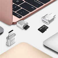 DM Mini Type-C USB 3.1 Micro SD Card TF Card Reader для Macbook Phone Tablet