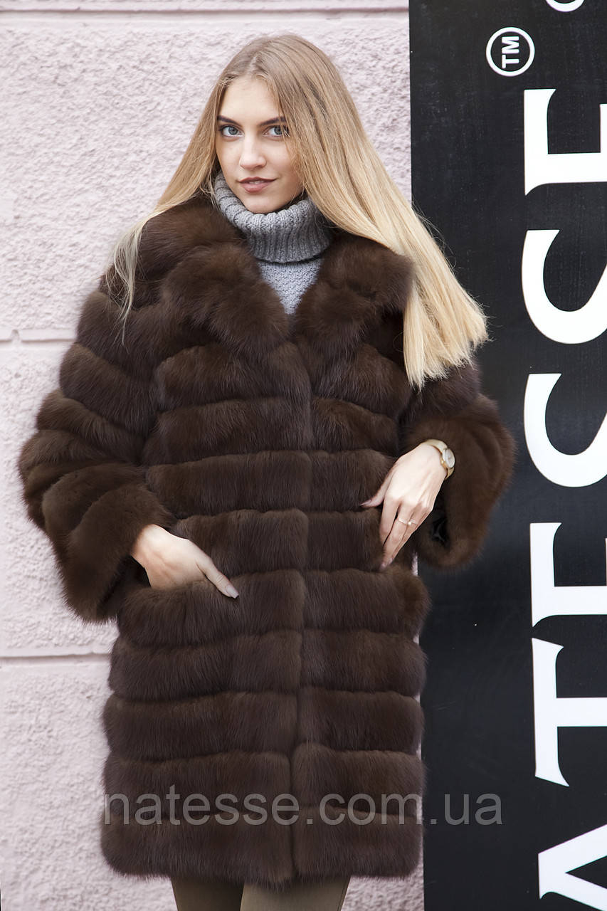 """Шуба из канадской куницы """"Кирсана"""" canadian marten fur coat jacket"""