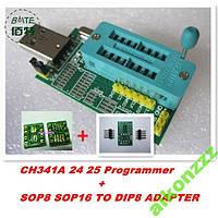 USB Программатор CH341A FLASH EEPROM +2 адаптера