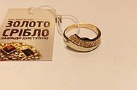 Кольцо золотое со вставками, размер 17,5. Вес 3,42 грамм.