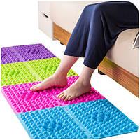 Красочный иглоукалывание Moxibustion Foot Massager Медицинская Терапевтический коврик для ног Массаж
