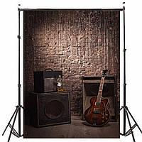 1.5x2.1m Винил Старая кирпичная древесина Акустическая гитара Тематическая фотография Фон Фон Студия Prop