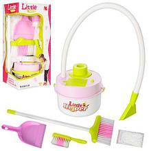 Детский игровой набор для уборки пылесос,щетка 2шт,совок