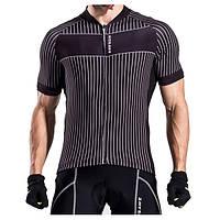 Мужчины Спорт Zip Топ футболка O-образным вырезом Быстрый сухой мужской велосипед Прохладный Велоспорт Бег с коротким рукавом Джерси