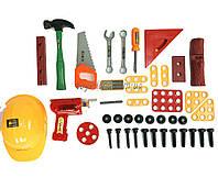 Набор инструментов 2058 (12шт) 41 дет., каска, дрель, молоток, в чемоданчике 35*23*16см
