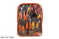 Набор инструментов 2094  ключи, отвертка, болты, молоток, в рюкзаке 40*31*7,5см