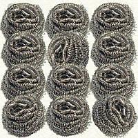 Скребок металлический спиралевый 10 г/шт, 12 шт.