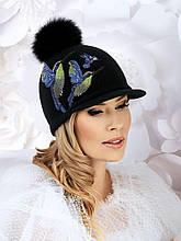 Красивая яркая женская кепка с помпоном от Willi - Canaris