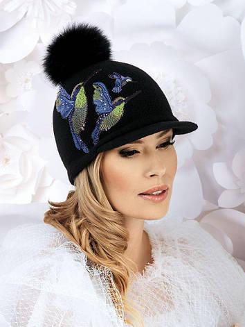 Красивая яркая женская кепка с помпоном от Willi - Canaris, фото 2